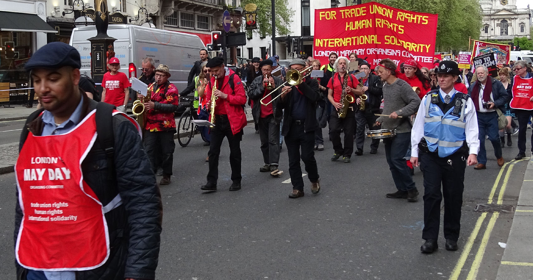 MARCH LED BY BAND